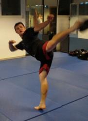 Kickboxen...