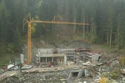 Bau des Krafthauses...