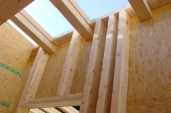 Holzhaus mit Holzrahme...