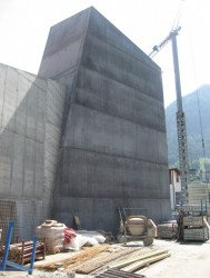 Bau des Kletterturms (...