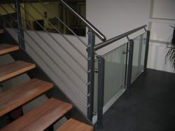 Treppengeländer Stahl/...