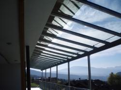 Glasüberdachung...